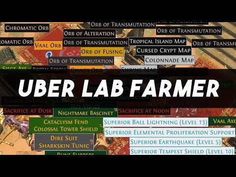 Path of Exile 3.1 Abyss League Day 3 - Uber Lab Farmer - Budget Version - Make Currency Fast #1