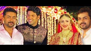 Arya – Sayesha's Grand Nikah : Surya & Karthi attends Marriage Ceremony | Wedding Video