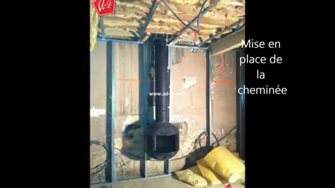 Poeleà bois Focus Edofocus 630 cheminée insert contemporaine YouTube # Fabriquer Un Poele A Bois Maison