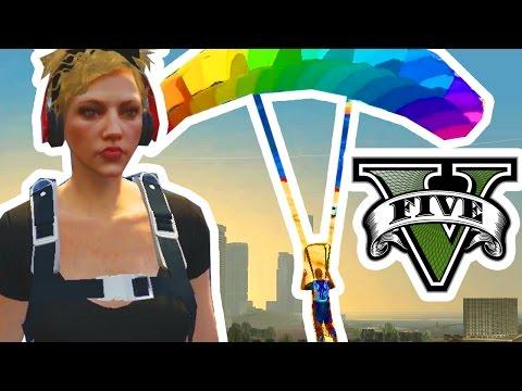 MI NOVIA Y EL PARACAÍDAS GAY | GTA 5 Online Pc