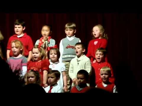 Travis' K-5 class at escambia academy singing happy birthday Jesus