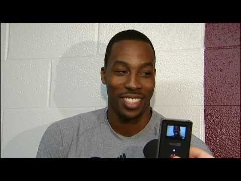 Orlando Magic's Dwight Howard doing Charles Barkley, Shaq and Phil Jackson Impressions