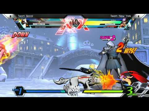 UMVC3  Grand Final Team Socal vs Team New York - Curleh Mustache Battle Royale - Final Round XVI