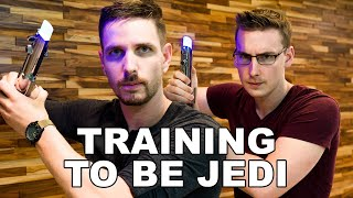 J and Ben vs. DARTH VADER - Star Wars: Jedi Challenges Hands-On!!