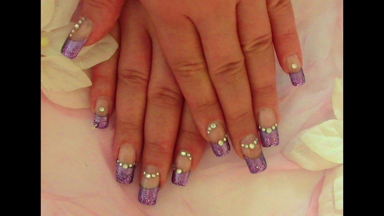 Lila Glam Nails / Nageldesign
