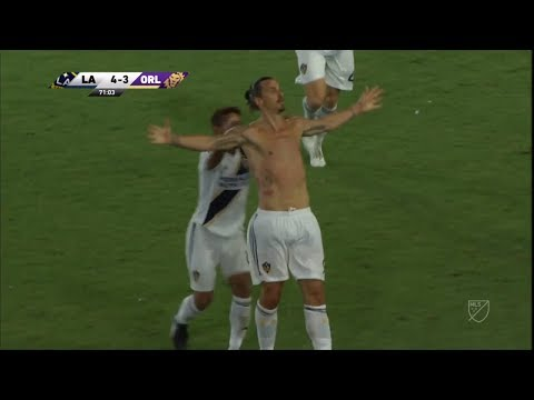 GOAL: Zlatan Ibrahimovic completes the hat trick and the comeback