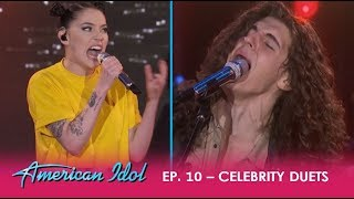 "Download Lagu Cade Foehner & Bishop Briggs ROCK The 'Idol' Stage With ""Never Tear Us Apart""