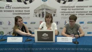 Round 7. Press conference with Olga Girya, Team Russia