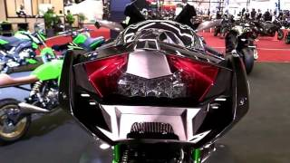 2018 Kawasaki Ninja H2R GreenLine ND Premium Features Edition First Impression Walkaround HD