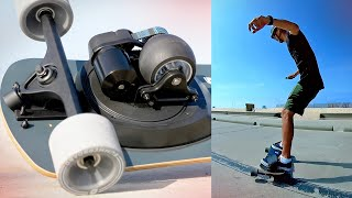 The electric skateboard that moves like a snowboard (Summerboard review)