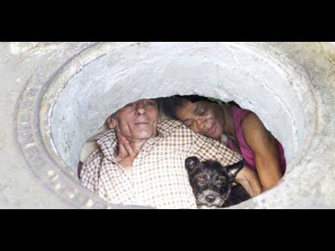 """Esta pareja ha vivido en una alcantarilla por 22 años, pero espera hasta que veas su """"hogar"""""""