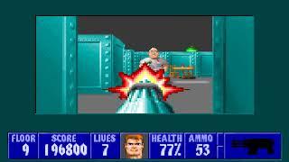 [MS-DOS] Wolfenstein 3D - Floor 9 (Episode II)
