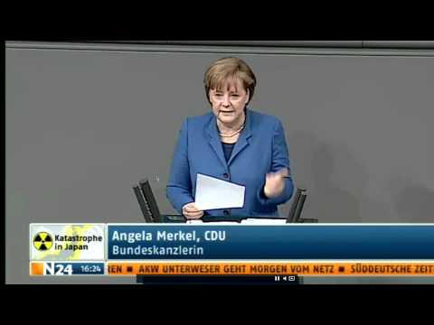 Bundestag - Angela Merkel wird von Sigmar Gabriel zurechtgewiesen