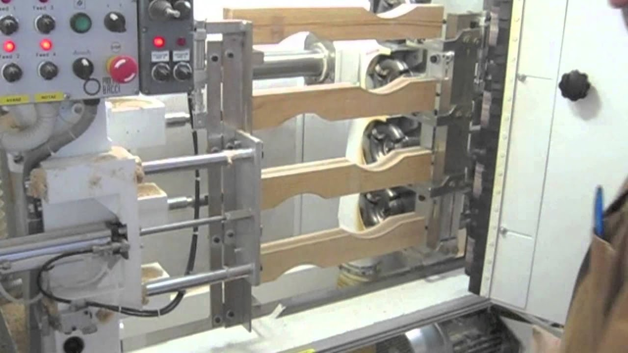 BACCI COPY LATHE MACHINE MODEL T4MO CHAIR LEGS MACHINING YouTube