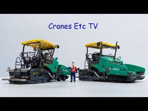 WSI Vögele Super 1803-3 Paver by Cranes Etc TV