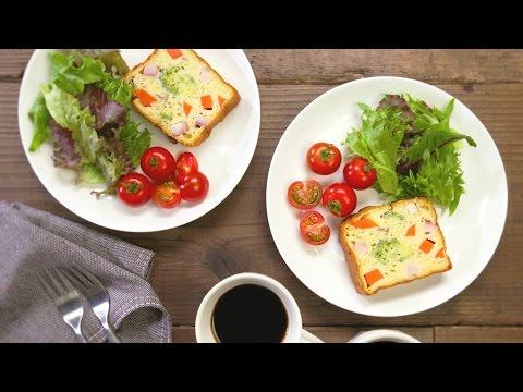 「3種のチーズのクリームパスタ 」で作る♪ チーズと野菜のケークサレ