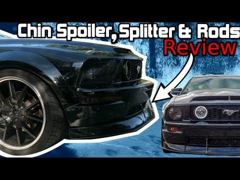 CDC Chin Spoiler & Splitter Upgrade w/ Splitter Rods REVIEW! (05-09 GT Mustang)