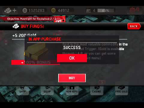 Dead trigger gold hack/free iap rooted android