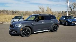 2018 Thunder Grey Countryman S ALL4 Custom Ink&Storm Leather Seating