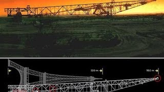 The Largest Conveyor Bridge In The World / Reclining Eiffel Tower / Overburden Conveyor Bridge F60