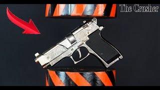 HYDRAULIC PRESS VS GUN TOY | THE CRUSHER say no to war