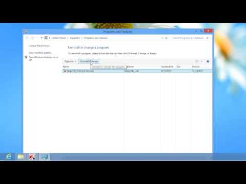 How to uninstall Kaspersky Internet Security 2014