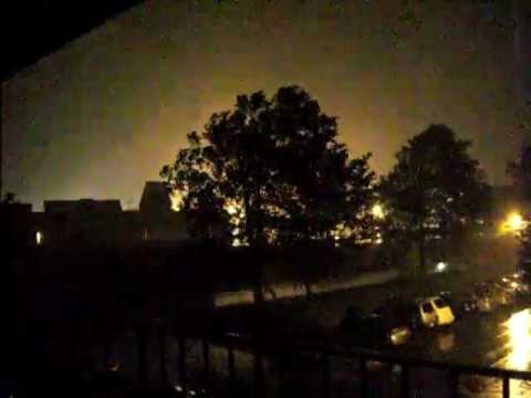 Maryland Derecho June 29, 2012 : Transformer explosion