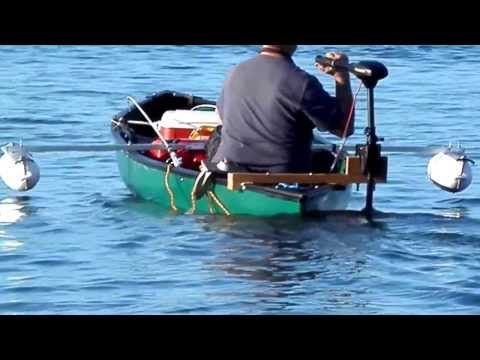 Teak Trolling Motor Mount and  Canoe Outriggers