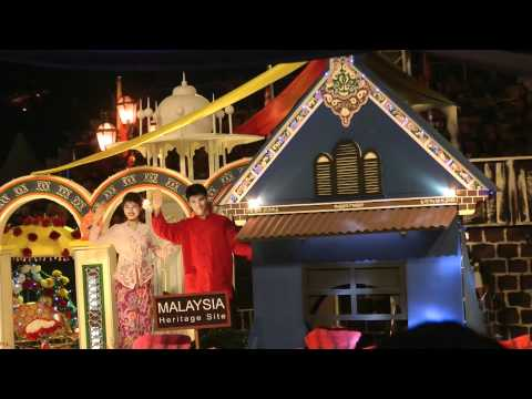 Malacca as a heritage site float at Citawarna 1 Malaysia 2012