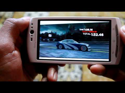 NFS Most Wanted 2012 game review on Android 4(ICS) Sony Xperia Neo V