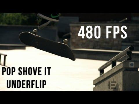 Slow Motion - Pop Shove It - Underflip (480fps)