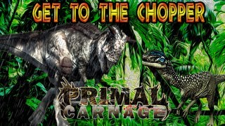 Primal Carnage: Get to the Chopper - Carnotaurus & Dilophosaurus Gameplay on Downpour