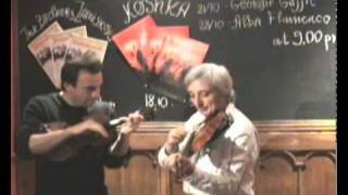 Lev Atlas And Oleg Ponomarev At Cafe Cossachok Playing Pizza Tzigana By O Ponomarev