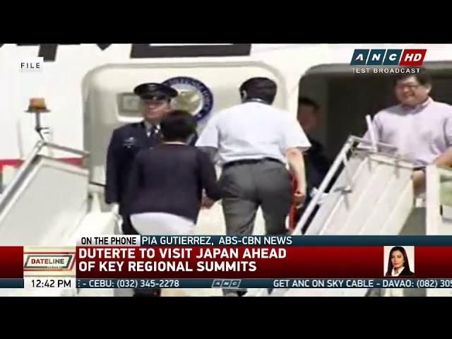 Duterte to visit Japan ahead of key regional summits