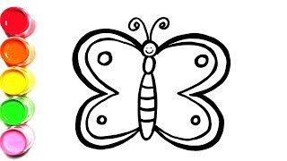 Glitter Baby Butterfly Coloring Learn Colors for Babies, Kids / ColorSong Toy Art