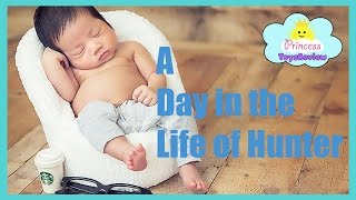 Baby Hunter Playtime, Tummy Time, & Baby's First Time Outside Vlog with Princess ToysReview
