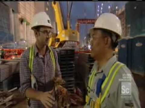 The building of Marina Bay Sands in Singapore - part 1