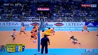 ALYSSA VALDEZ BEST vs Army Finals G1