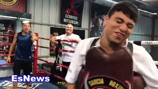 ((WOW)) UFC Superstar Jose Aldo Full Boxing Workout At RGBA Sparring Mitts Bag EsNews Boxing