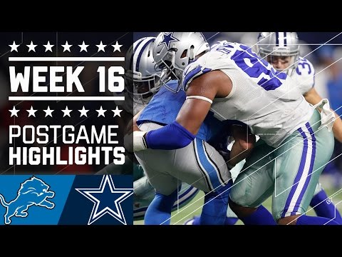 Lions Vs Cowboys Nfl Week 16 Game Highlights