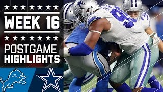 Lions vs. Cowboys | NFL Week 16 Game Highlights