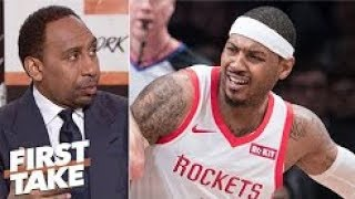 Carmelo Anthony should go to Lakers, Heat or just retire   Stephen A   First Take