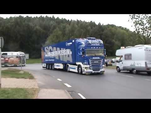 Vier Jens Bode Scania kommen in Geiselwind an !!!!