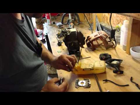 Stihl FS 80 weed eater carburetor change out