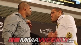 UFC 156 in Your Face! Alistair Overeem and Bigfoot Silva Go Nose to Nose