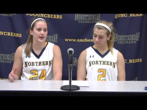 UNC Women's Basketball vs Idaho Kyleigh Hiser and Savannah Scott