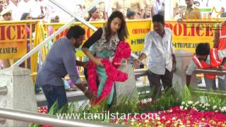 Trisha At Jayalalithaa Memorial