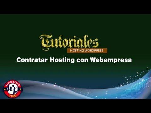 Contratar hosting con Webempresa