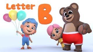 Letter B | Learn ABC | Alphabet | from Kiddo Kiddy