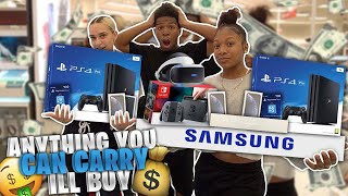 ANYTHING YOU CAN CARRY, I WILL BUY! w/ MY GIRLFRIEND AND MY SISTER *A Supporter Joined*